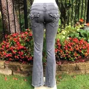 TRUE RELIGION Gray Joey Big T Jeans Size 27